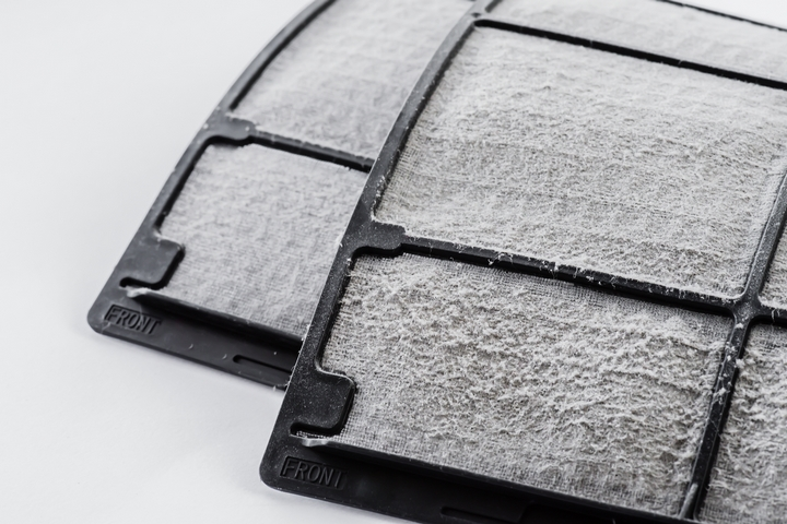 Replace the dirty air filters.