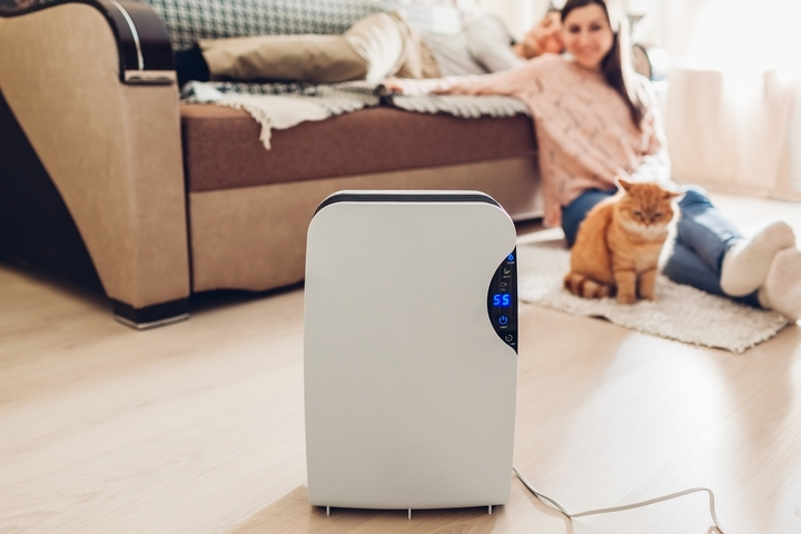 Use a dehumidifier to lower humidity in the house.