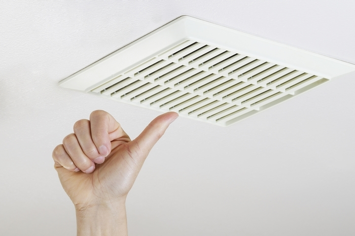 Use your ventilation fans in the kitchen and washroom.