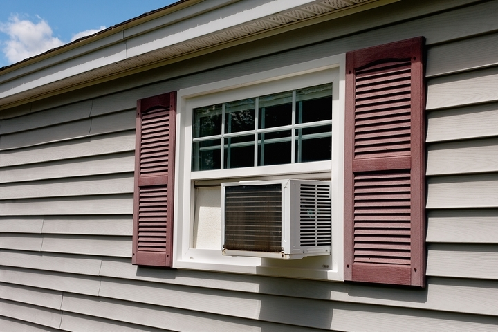 Install a window air conditioner upstairs